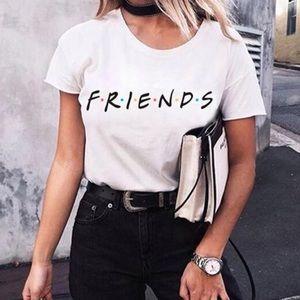 Tops - White graphic print Friend T-shirt